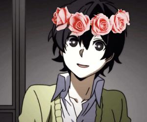 anime, flower crown, and haruka image