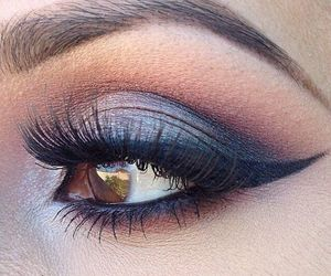 eye, eye liner, and make up image