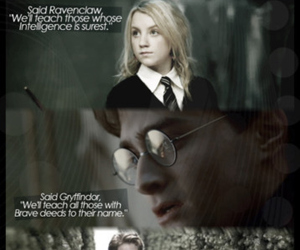 harry potter, luna, and malfoy image