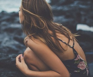 hair, ocean, and inspiration image