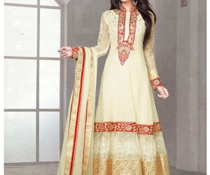 anarkali suits, wedding salwar kameez, and suits for eid image