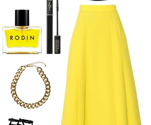 yellow dress and polivore image