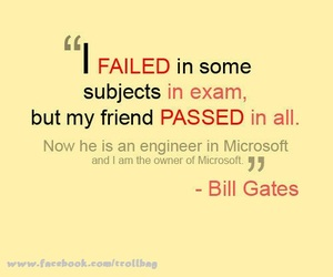 quote, bill gates, and exam image