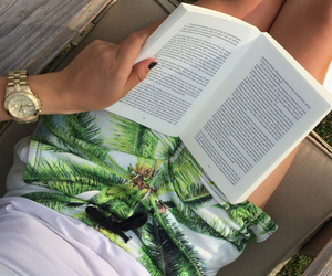 book, summer, and watch image