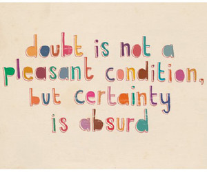quote, text, and doubt image