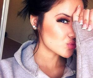 girl, pretty, and makeup image