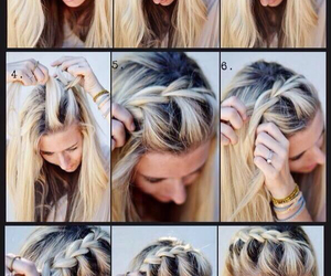 beauty, hair, and tutorial image