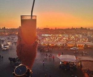 morocco, marrakech, and cocktail image
