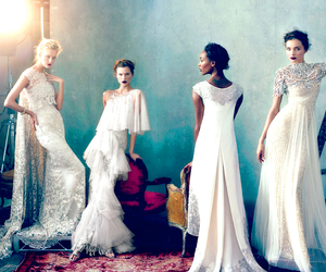 dress, model, and Marchesa image