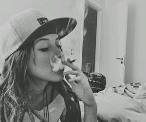 cap, cigarette, and dreads image