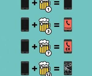 beer, funny, and phone image