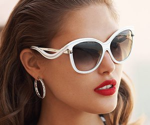 Louis Vuitton, lipstick, and red lips image