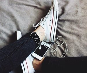 converse, music, and iphone image