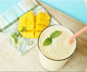 drink, healthy, and mango image
