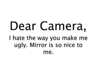 camera, mirror, and ugly image