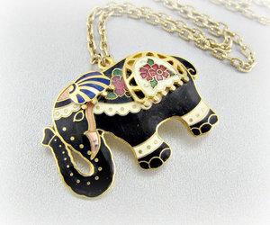 vintage, elephant necklace, and vintage necklace image