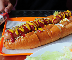 food, yummy, and hot dog image