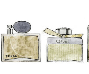 chanel, illustration, and perfume image