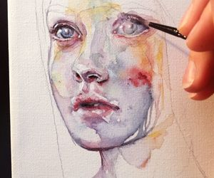 art, perfection, and watercolor image