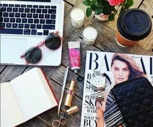 fashion, magazine, and coffee image