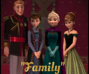 anna, disney, and family image