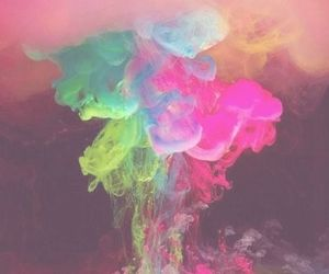 colors, smoke, and pink image