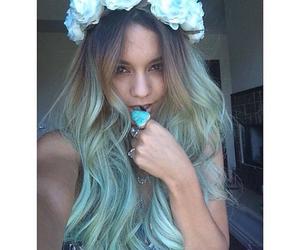 vanessa hudgens, hair, and flowers image