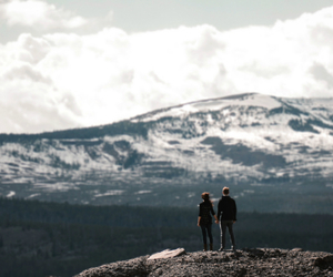 mountains, nature, and couple image
