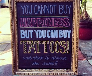 tattoo, happiness, and quotes image