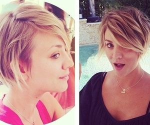 blond, hair, and haircut image