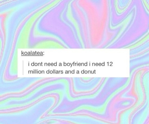 boyfriend, donuts, and money image