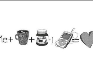 nutella, love, and music image