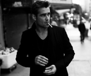 colin farrell, smoking, and cigarette image