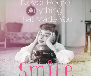 smile, audrey hepburn, and quotes image