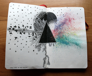 art, drawing, and Pink Floyd image