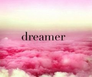 dreamer, pink, and clouds image