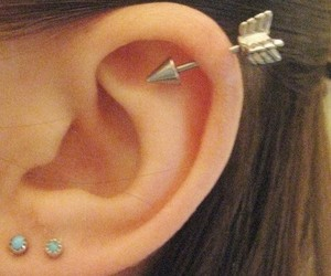 earrings, love, and hurt image