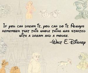 disney, Dream, and quote image