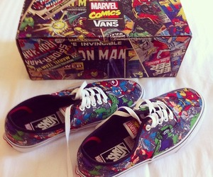 Marvel, shoes, and vans image
