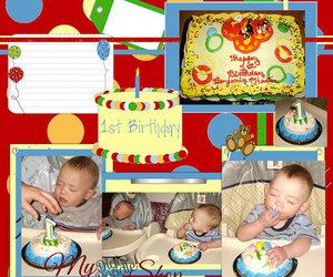 baby, birthday, and scrapbook image