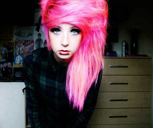 pink, pink hair, and piercing image