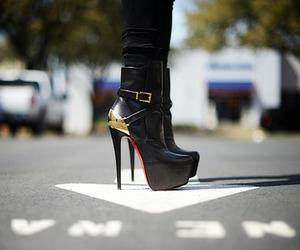 louboutin, hijab, and shoes image