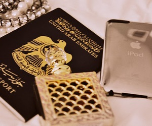 Dubai, passport, and UAE image