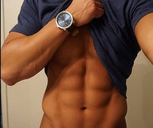 abs and boy image