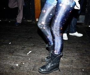 boots, galaxy, and leggings image