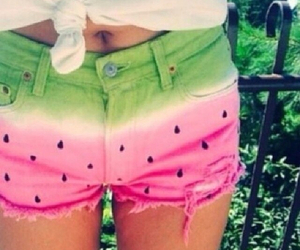clothes, fruit, and summer clothes image