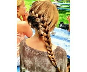 estilo, trenzas, and cabello image