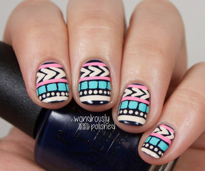 manicure, nail art, and tribal image