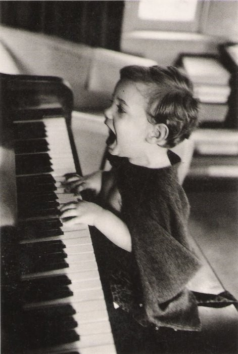 black and white, child, and music image