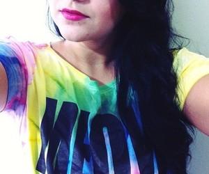 black hair, hair, and lips image